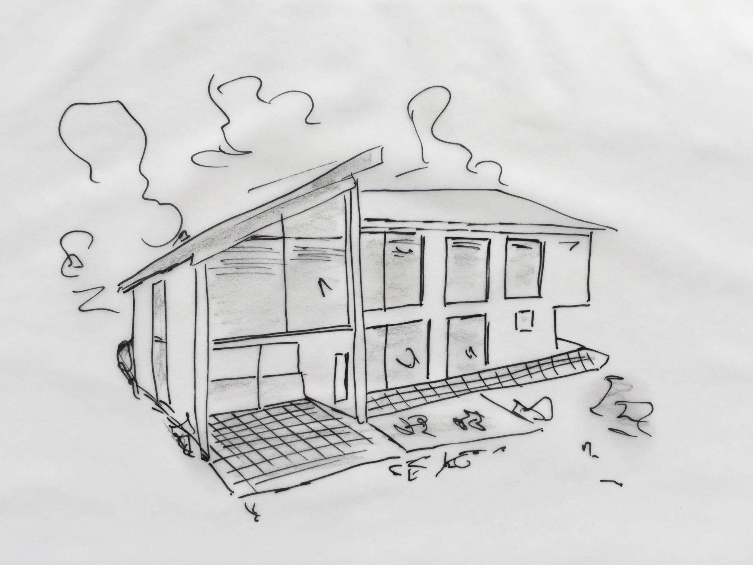 Skizze: Ein eigenes Haus bauen ist Präzisionsarbeit. Beim Grundriss und Raumaufteilung, aber auch der Finanzierungslösung kommt es auf die richtigen Dimensionen an.