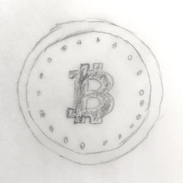 Grafik: Bitcoin-Münze, Symbol für Kryptowährungen