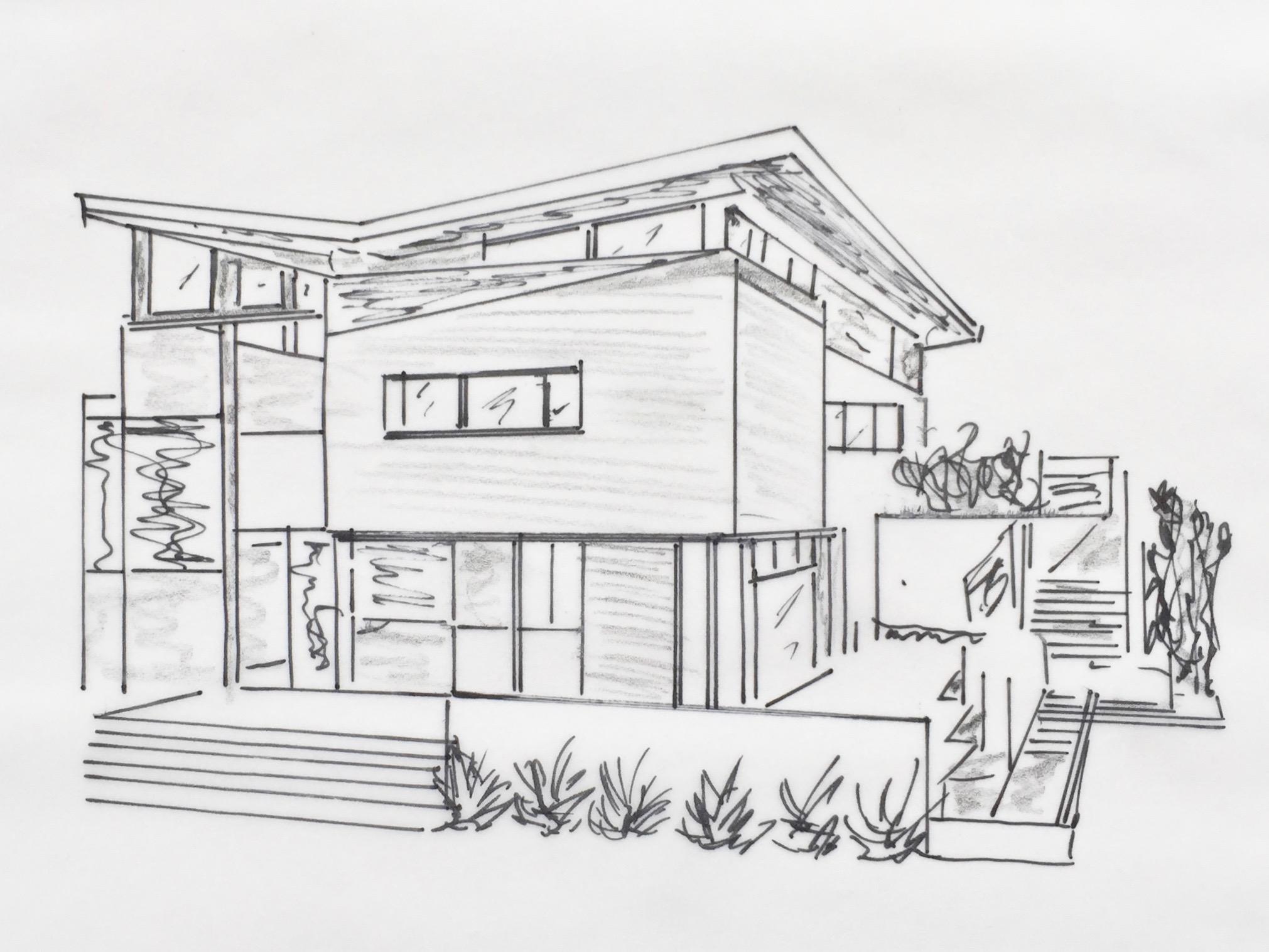 Baufinanzierung –Skizze Eigenheim